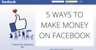5 ways to make money from facebook