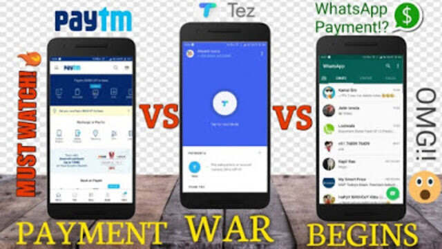 Payment Apps: WhatsApp vs PayTM vs Google pay