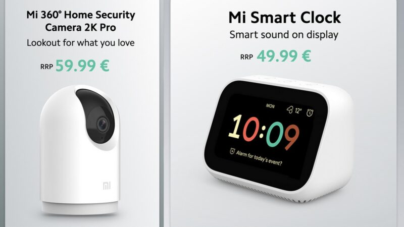 Mi 360 Home Security Camera 2K Pro, Mi Smart Clock Price and specifications