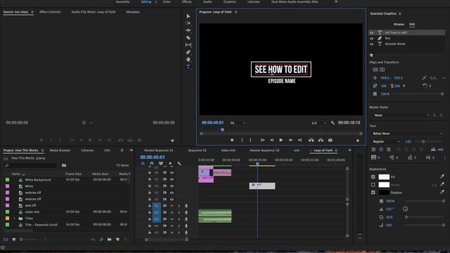 Adobe Premiere Pro: How to Add Text to Videos and Stylize Text Easily