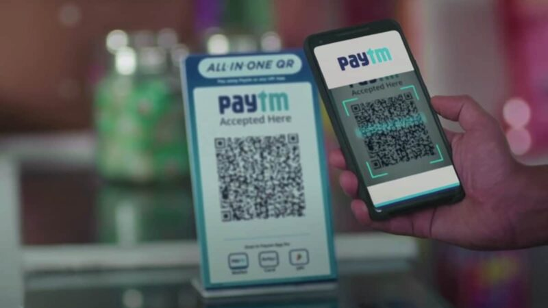 How to scan Paytm QR code from the gallery on iPhone