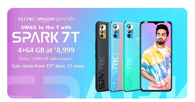Tecno Spark 7T With MediaTek Helio G35 SoC, 6,000mAh Battery Launched in India: Price, Specifications